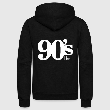 Hip Hop - 90's Old School Hip Hop Throwback Vin - Unisex Fleece Zip Hoodie