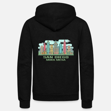 Mira San Diego Mira Mesa California Skyline United Stat - Unisex Fleece Zip Hoodie