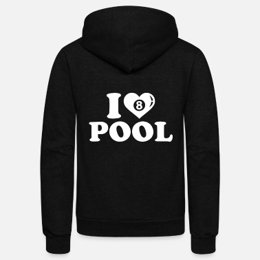 Pool Lover pool lover - Unisex Fleece Zip Hoodie