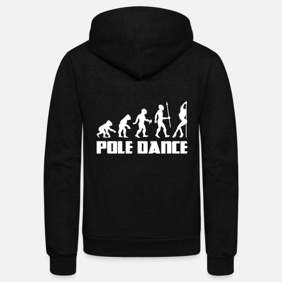 Sex Hoodies & Sweatshirts - Evolution Pole Dance Dancing Dancer Burlesque - Unisex Fleece Zip Hoodie black