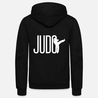 Illustration judo illustration - Unisex Fleece Zip Hoodie