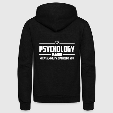 Psychology Psychology Major Shirt - Unisex Fleece Zip Hoodie