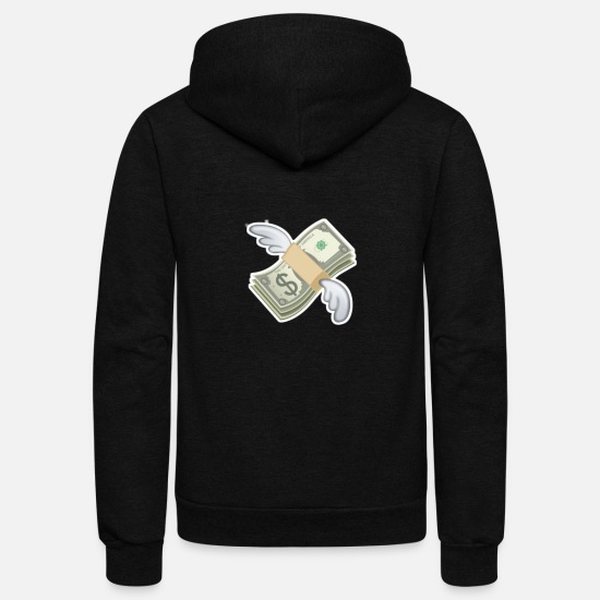 Fly Hoodies & Sweatshirts - Flying dollar - Unisex Fleece Zip Hoodie black