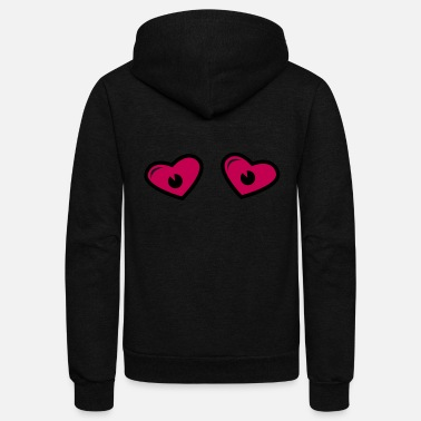 Heart Eyes Heart Eyes - Eye love - Comic eyes - Unisex Fleece Zip Hoodie