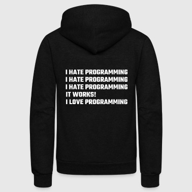 Programming - I Love Programming - Unisex Fleece Zip Hoodie
