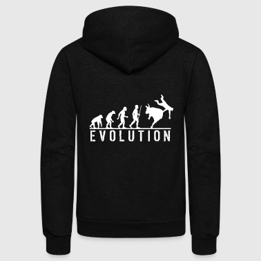 Bull Riding - Funny Evolution of Bull Riding - Unisex Fleece Zip Hoodie