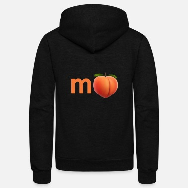 Impeach (M PEACH') T-Shirt (White, Black, Green) - Unisex Fleece Zip Hoodie