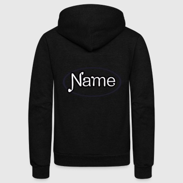 NAME - Unisex Fleece Zip Hoodie