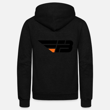 Fbl FBL Black Orange no na - Unisex Fleece Zip Hoodie