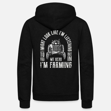 Wife Funny Gift Farmer Chicken Farm Shirt - Unisex Fleece Zip Hoodie