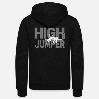 High Jump High jumper high jump pole vault gift - Unisex Fleece Zip Hoodie