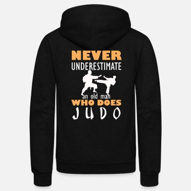 Judo Judo Grandpa Funny Martial Arts design - Unisex Fleece Zip Hoodie