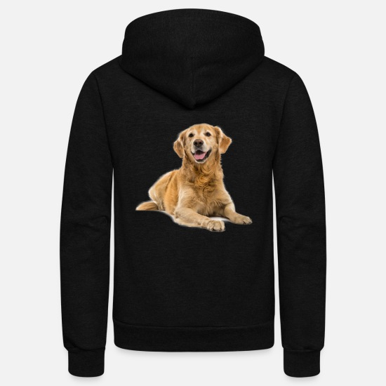 Retriever Hoodies & Sweatshirts - Golden Retriever Shirt - Unisex Fleece Zip Hoodie black