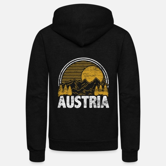Tyrol Hoodies & Sweatshirts - Austria - Unisex Fleece Zip Hoodie black