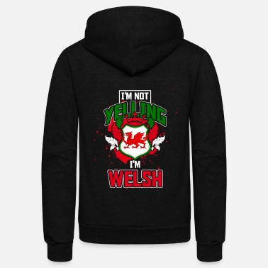Yell Yelling Welsh - Unisex Fleece Zip Hoodie