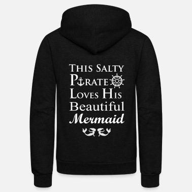 Cruise Pirate Mermaid Valentines Day Boating Gift - Unisex Fleece Zip Hoodie