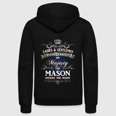 Shirts for Men, Job Shirt Mason - Unisex Fleece Zip Hoodie