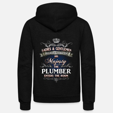 Plumber Shirts for Men, Job Shirt Plumber - Unisex Fleece Zip Hoodie