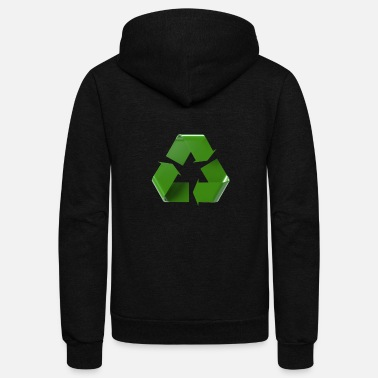 Recycle Logo Recycle, sign. logo. green - Unisex Fleece Zip Hoodie