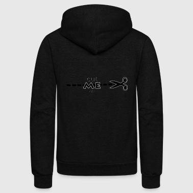CREATIVE DESIGN || CUT ME OFF - Unisex Fleece Zip Hoodie