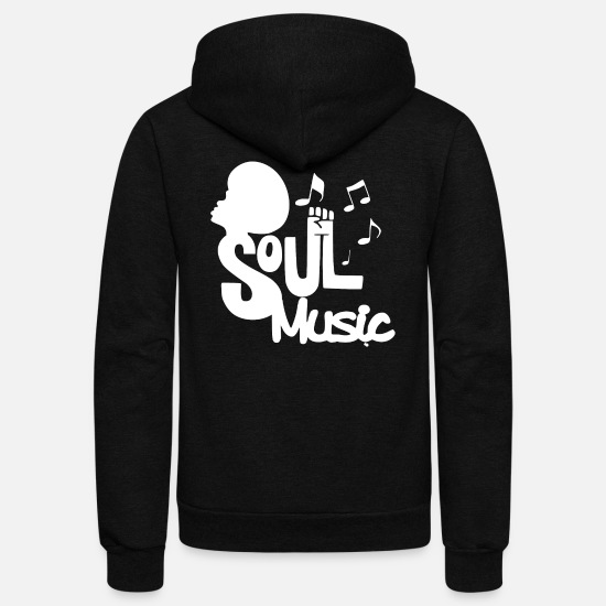 Soul Hoodies & Sweatshirts - Soul Music - Music Passion - Unisex Fleece Zip Hoodie black