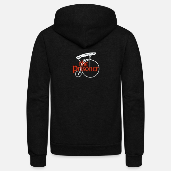Prisoner Hoodies & Sweatshirts - The Prisoner Humour Logo - Unisex Fleece Zip Hoodie black