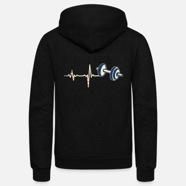 Masterjs gift heartbeat weighlifting - Unisex Fleece Zip Hoodie
