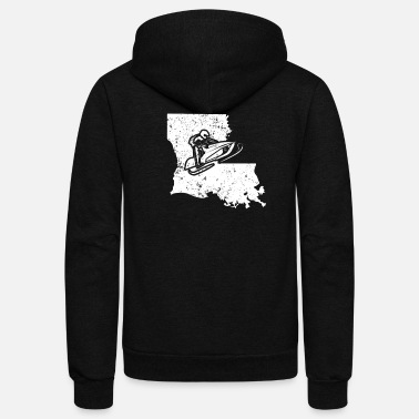 Racing Machine Snowmobile Racing Shirt Louisiana Snowmobile Machine - Unisex Fleece Zip Hoodie