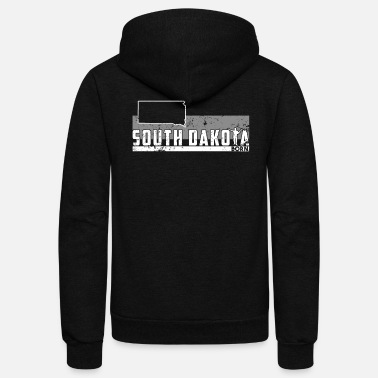 South Guitar South Dakota Shirt Guitar Shirt Rock N Roll T Shirt - Unisex Fleece Zip Hoodie