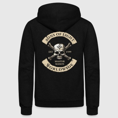 Sons Of Light Worldwide Freemasons T Shirt Past Master - Unisex Fleece Zip Hoodie