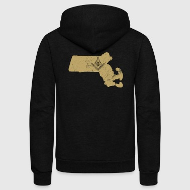 Massachusetts Freemason Clothing Masonic Clothing - Unisex Fleece Zip Hoodie