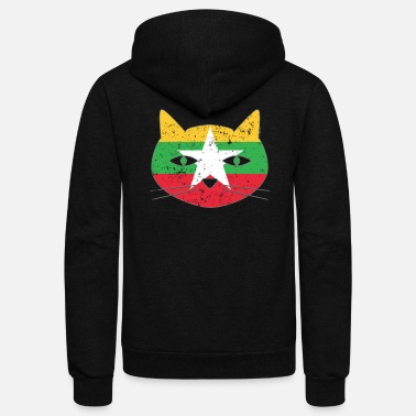 Cat Flag Persian Cat Flag Cat - Unisex Fleece Zip Hoodie