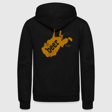 Fishing With Daddy WV Trout Fishing Bass Fishing Beer - Unisex Fleece Zip Hoodie