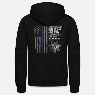 Police Officer Police In America Correctional Officer Prayer - Unisex Fleece Zip Hoodie