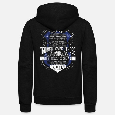 Police Officer Police Officer Prayer Police Support Saint Michael Police - Unisex Fleece Zip Hoodie
