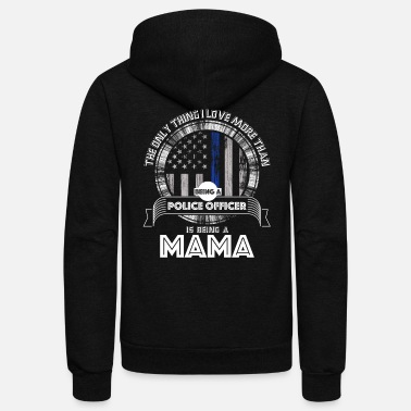 Cop Female Police Officer Mama Female Cop Shirt - Unisex Fleece Zip Hoodie