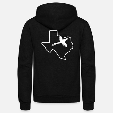 Pheasant Modern Pheasant Hunting Texas Game Bird Hunting - Unisex Fleece Zip Hoodie
