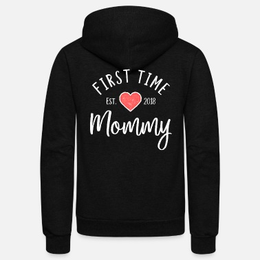 New Baby First Time Mommy est. 2018 - New Mom Gift - Unisex Fleece Zip Hoodie