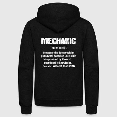 Definition of Mechanic - Unisex Fleece Zip Hoodie