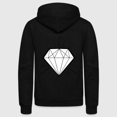Diamond bling bling - swaggy - Unisex Fleece Zip Hoodie