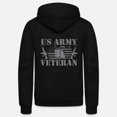 Us Army US Army Veteran - Unisex Fleece Zip Hoodie