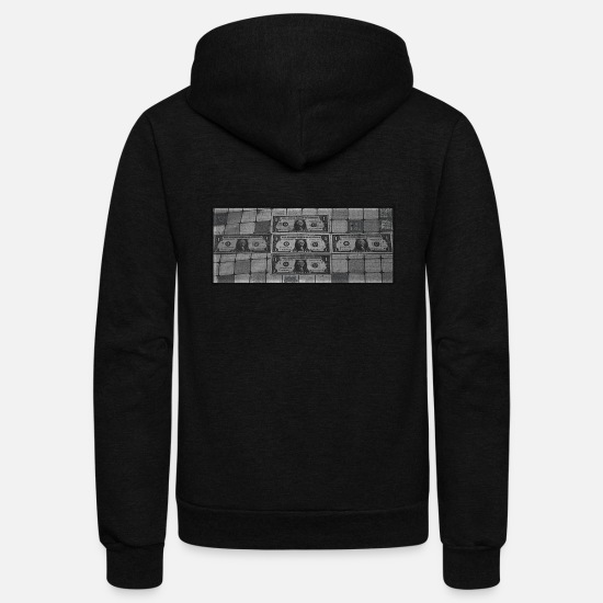 Square Hoodies & Sweatshirts - Five Dollars - Unisex Fleece Zip Hoodie black