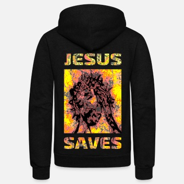 Jesus Jesus - Christ - god - jesus saves - Unisex Fleece Zip Hoodie