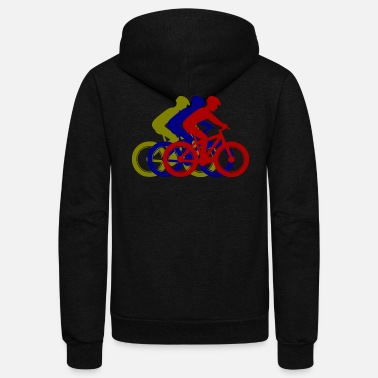 MTB - mountain biking - Unisex Fleece Zip Hoodie