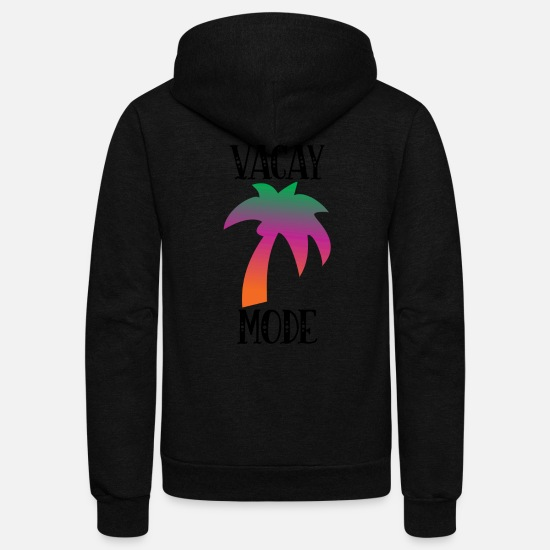 Mode Hoodies & Sweatshirts - Vacay Mode - Unisex Fleece Zip Hoodie black