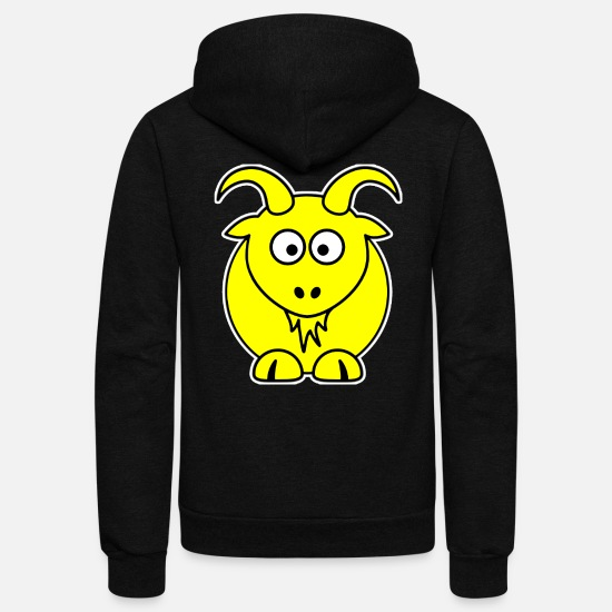 Goatee Hoodies & Sweatshirts - Goat Shirt - Unisex Fleece Zip Hoodie black