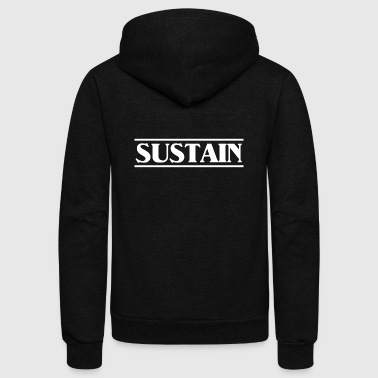 sustain white - Unisex Fleece Zip Hoodie