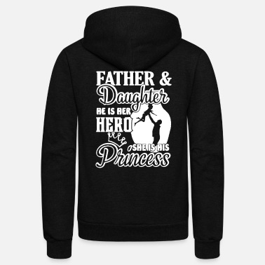 Father And Daughter FATHER AND DAUGHTER SHIRT - Unisex Fleece Zip Hoodie
