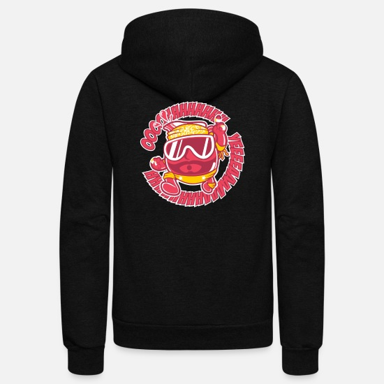 Aid Hoodies & Sweatshirts - Macho Man Kool Aid - Unisex Fleece Zip Hoodie black