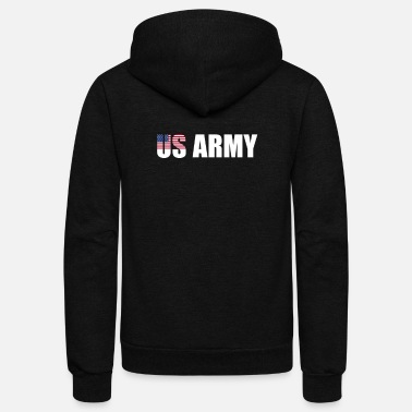 Us Army US ARMY - Unisex Fleece Zip Hoodie